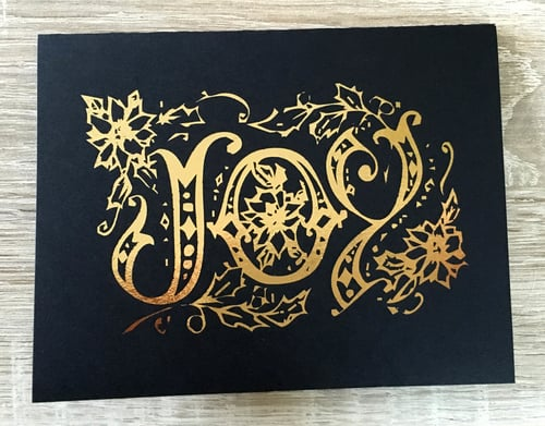 Joy   // Gold Foil on Black