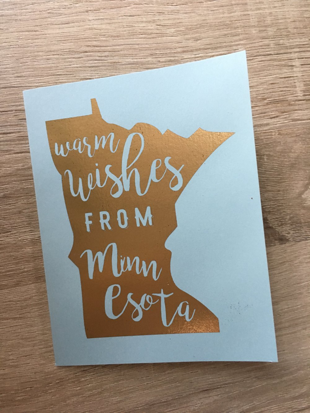 MN Wishes   // Gold Foil on Sky