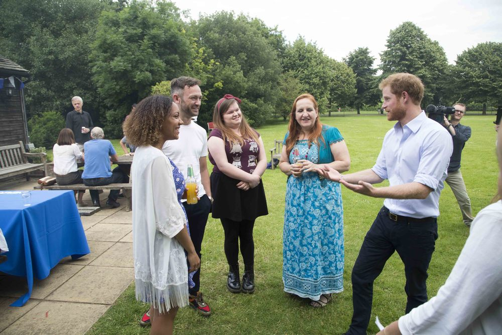 Talking to Prince Harry about my blog, marathons and how running has saved my life.