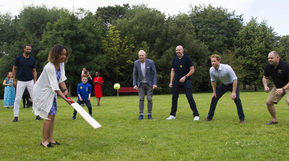 Playing French Cricket like an absolute pro and praying I don't hit Prince Harry's head with the ball.
