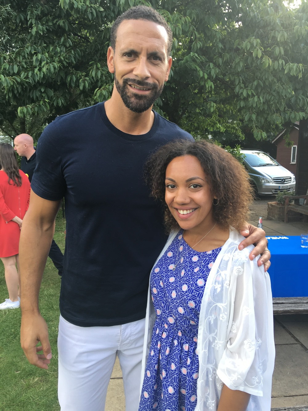 Rio Ferdinand is two heads bigger than me.