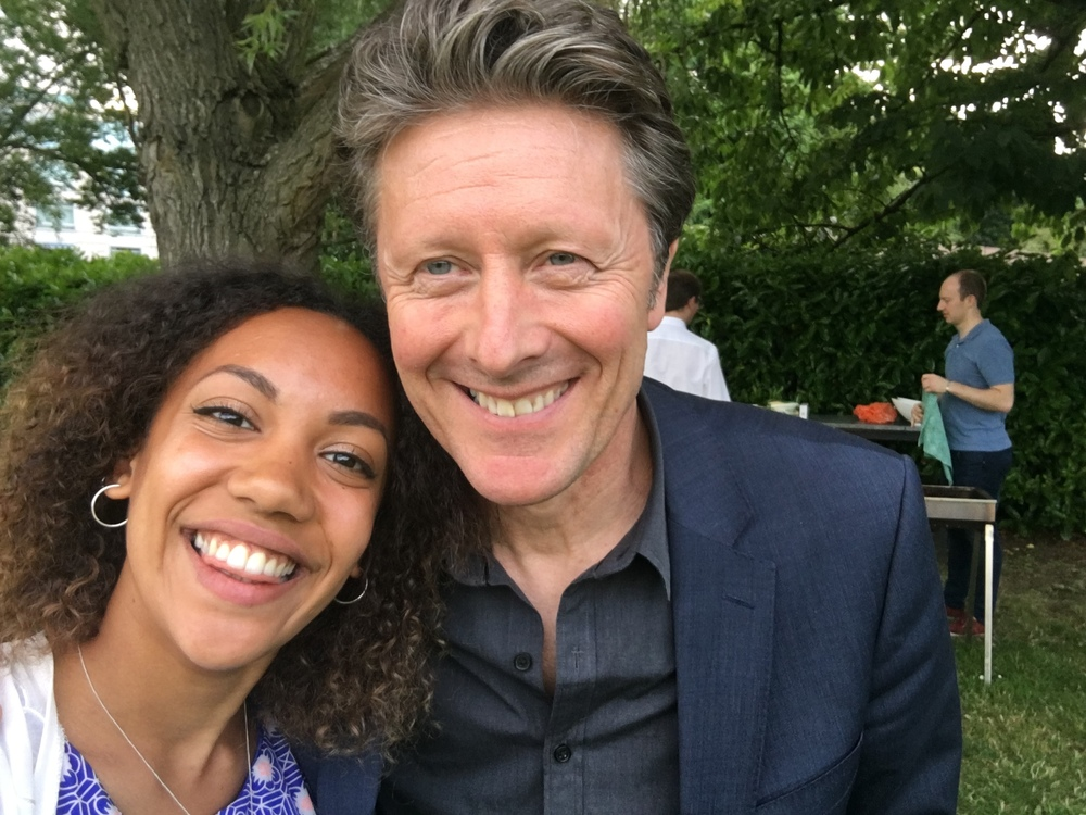 Charlie Stayt, of BBC Breakfast, wanted a selfie.