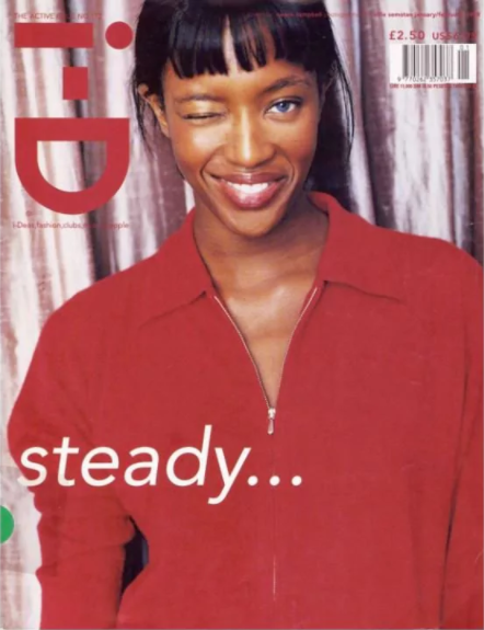 A 1998 Naomi Campbell i-D cover styled by Enninful