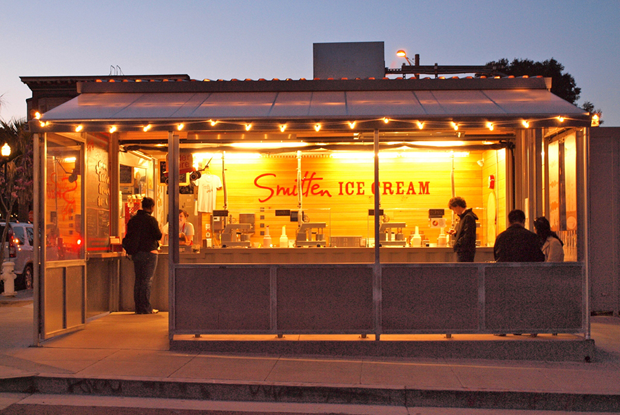 Smitten Ice Cream's first location in San Francisco. Photo courtesy Smiiten Ice Cream.