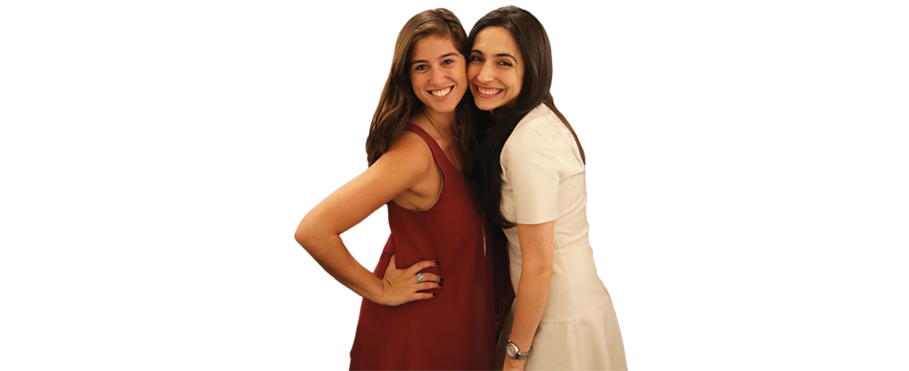 Young Women's Leadership Network National Coordinator Sasha Altschuler (left) and New York network board member Jackie Soleimani at an event in New York City.