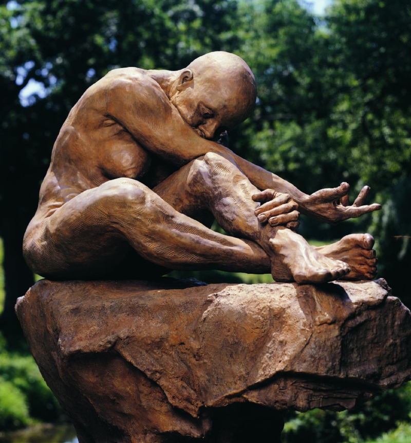 Sassona Norton, An Hour Before Dawn, bronze, 2001
