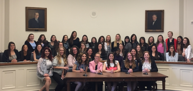 Young leaders from across the U.S. join in JWI's Young Women's Advocacy Day on Capitol Hill, April 3, 2017.