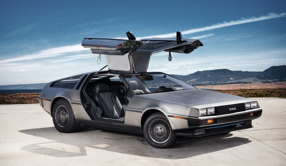 Photo of  electric  DeLorean from  FastCo .