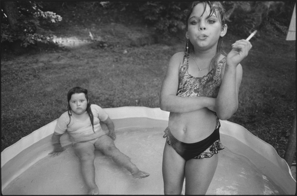 Amanda, right, and her cousin Amy in Valdese, N.C., 1990