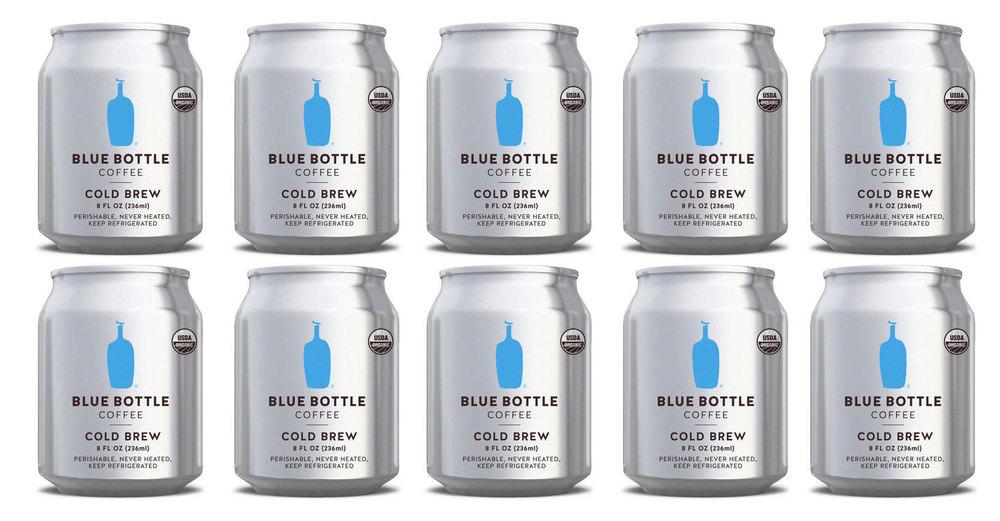 Café botella azul