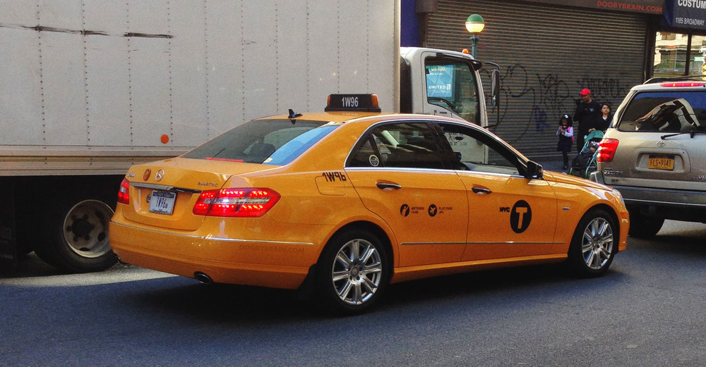 Rare yellow taxi cabs of new york city mercedes benz e for Mercedes benz nyc