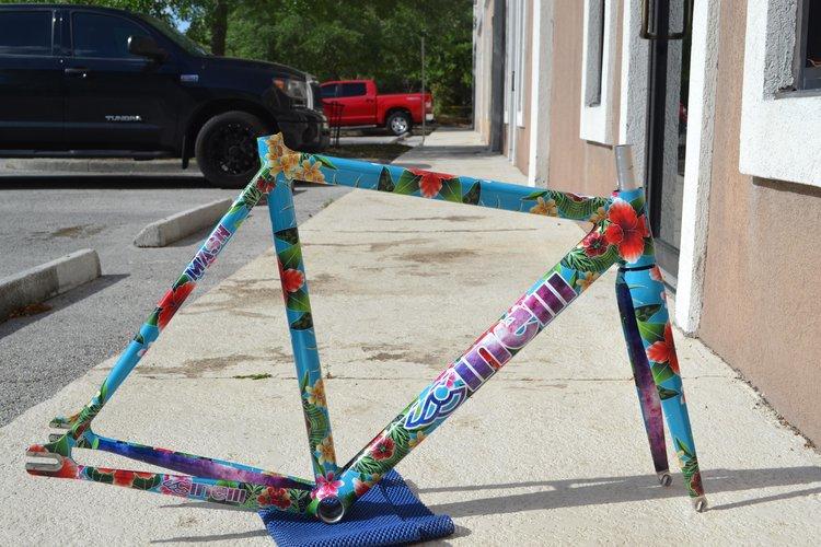 Cinelli Histogram Bicycle With A Vinyl Wrap  Doobybraincom - Vinyl bike wrap