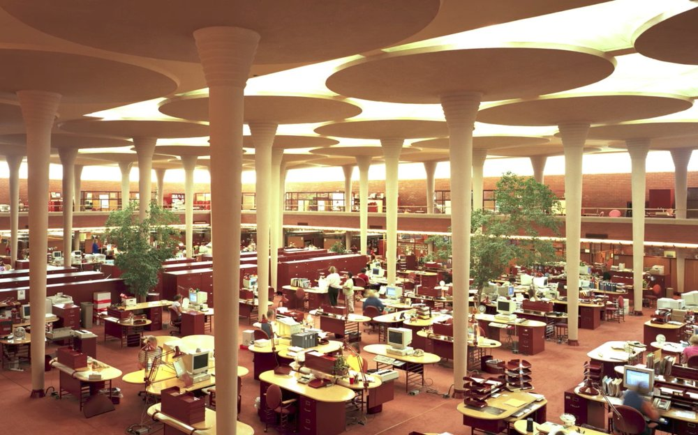 Frank Lloyd Wright's open office concept