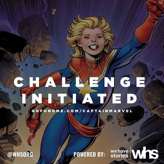 We've raised over $20k for the #CaptainMarvelChallenge. But it's not a party if we don't invite other people!  We are challenging you to take children to see #CaptainMarvel⁠ ⁠ too.  @gofundme wants to help by donating $100 to 25 new campaigns created.  Join: www.gofundme.com/cause/captain-marvel-challenge