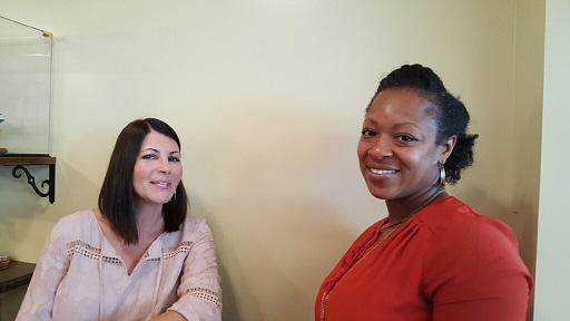 Kristin and Ebony say CHEESE ...