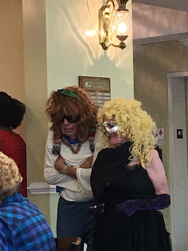 Tom as himself and Maureen as Dolly Parton ... glam at the Yacht Club for sure!