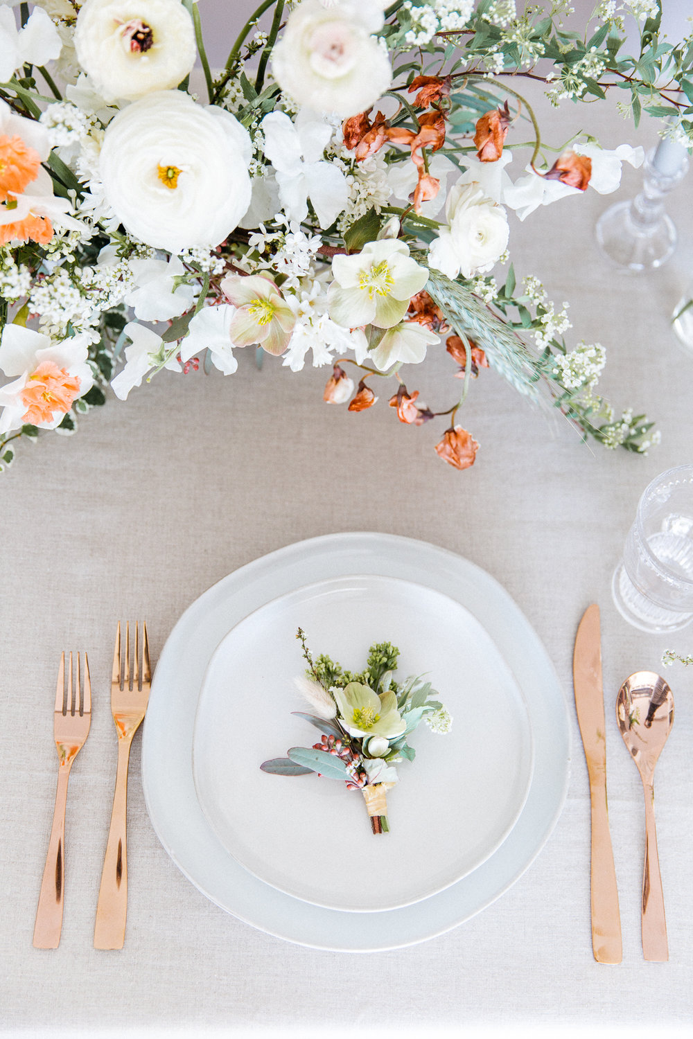 Dining Setting Milieu Florals Details Photography OC Portrait Event Photographer