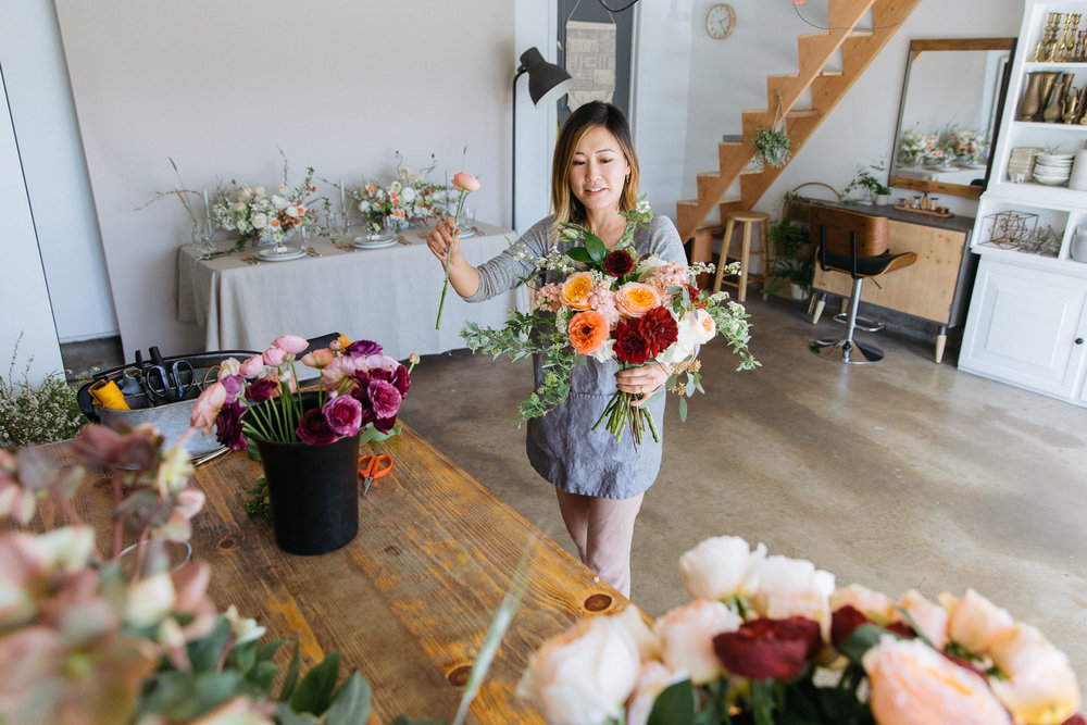 Milieu Florals Making Bouquet