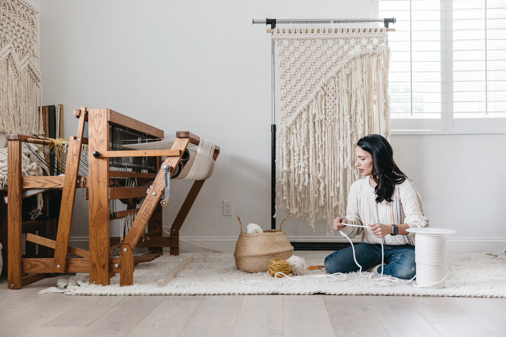 Modern Macrame Artist Elsie Goodwin Reform Fibers Hands On Collective by Joy Theory Co Orange County Photographer