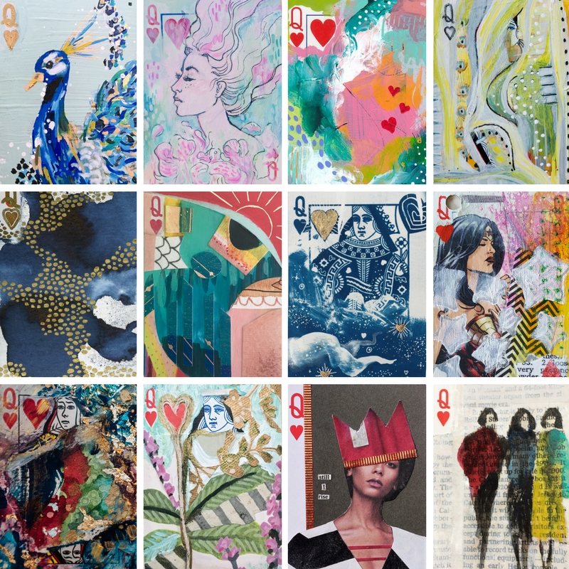 Fine Art Cards by Andreina Bates, Becca Bastian Lee, Bethany Joy, Carolyn Mackin, Emily Mann, Jennifer McHugh, Jocelyn Mathewes, Kellee Wynne Conrad, Kelly Kruse, Mary Jo Major, Maureen S. Farrell