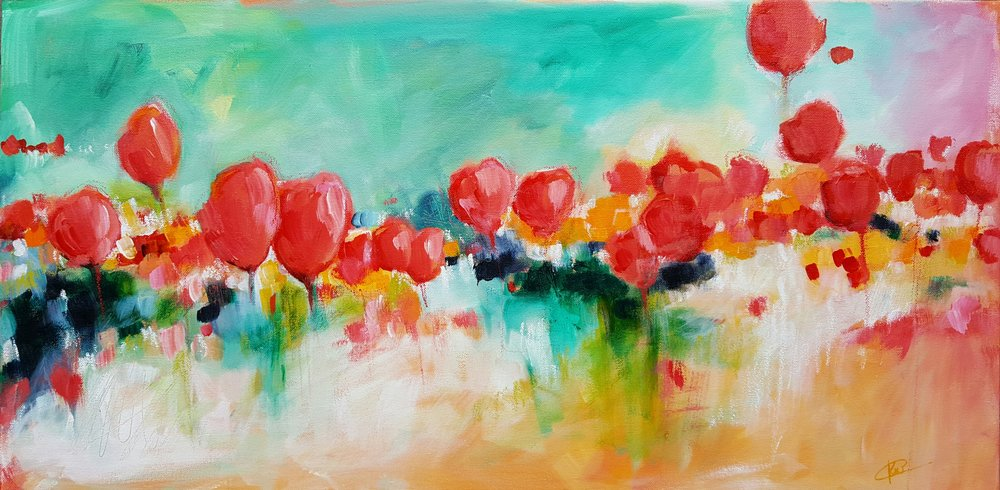 Kellee Wynne Conrad Spring Acrylic Floral Painting.jpg