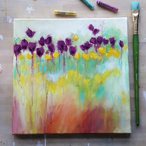kellee wynne studios acrylic and mixed media painting ecourses
