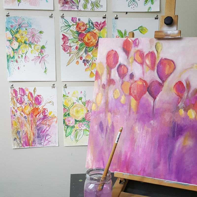 quick tips for better instagram photos by Kellee Wynne Studios on the easel.jpg