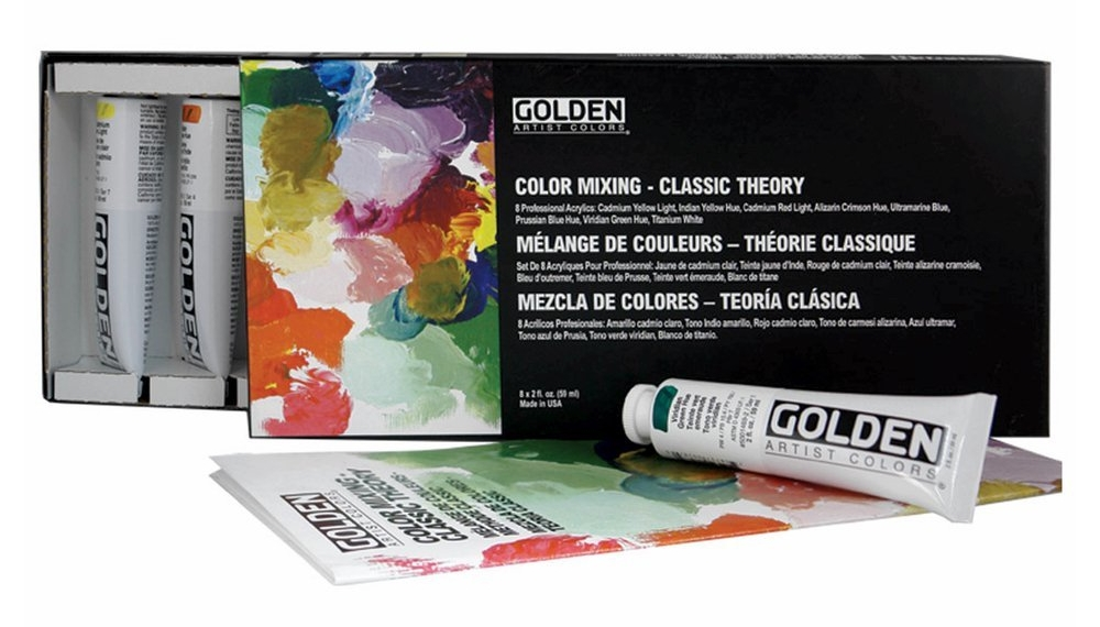 Art Info, My favorite Art Supplies for Acrylic Painting by Kellee Wynne Studios Golden Paint Color Theory set.jpg