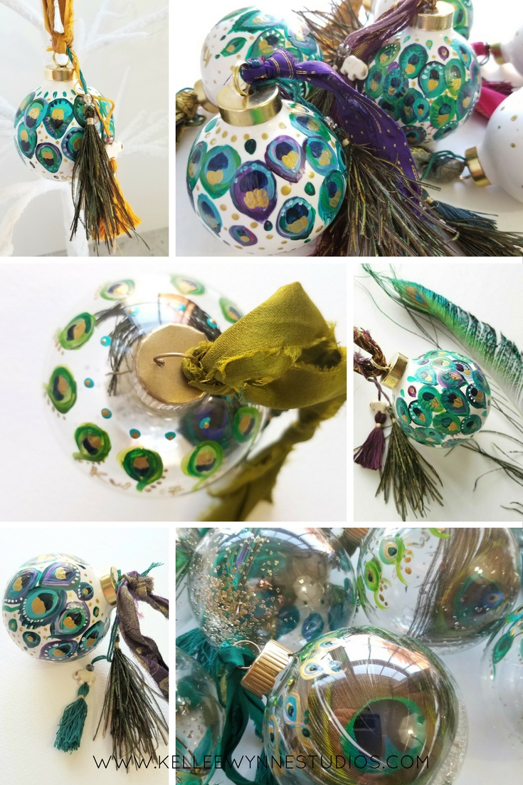 Royal Bohemian Collection Graphic, Kellee Wynne Studios, peacock feather boho eclectic hand painted ornament.jpg