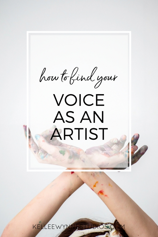how to find your voice as an artist by Kellee Wynne Studios