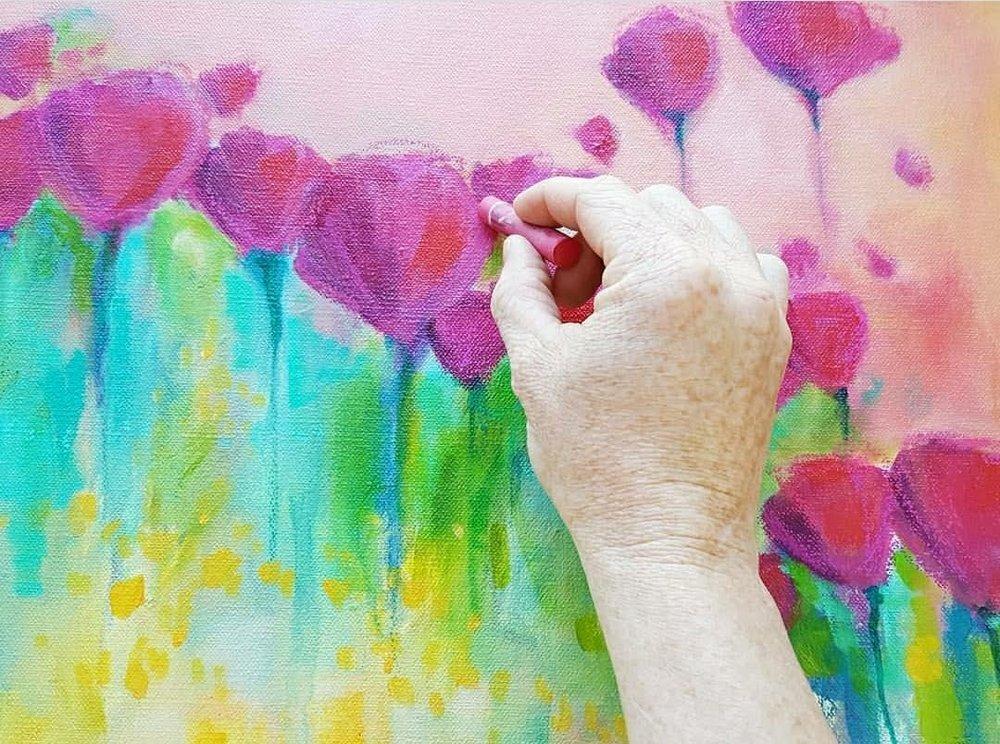 Kellee Wynne Studios True Colors Acrylic Painting  - Abstract Florals workshop 9.jpg