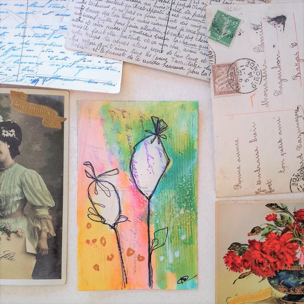 Postcards from Paris, mixed media retreat with Kellee Wynne Studios 1.jpg