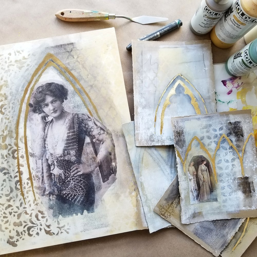 Timeless Arches, mixed media workshop with Kellee Wynne Studios 17.jpg