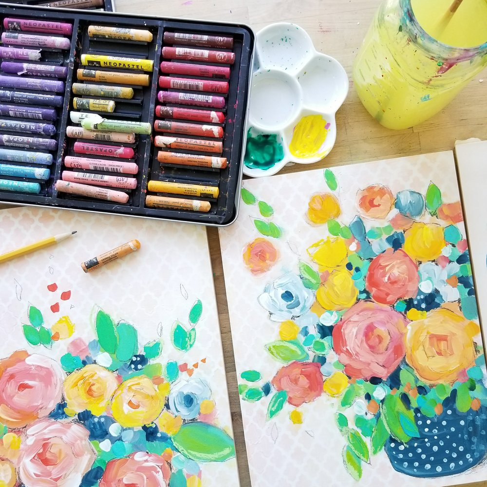 Kellee Wynne Studios True Colors Lace Floral Mixed Media Painting workshop 3.jpg