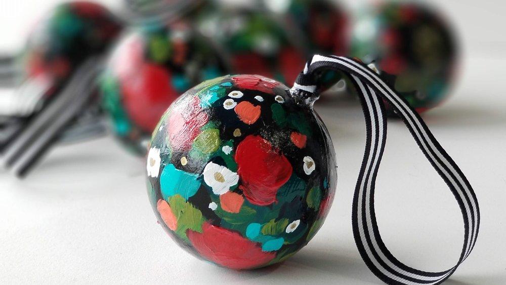 Carbon Floral Festival original handpainted ornaments by Kellee Wynne Conrad (12).jpg