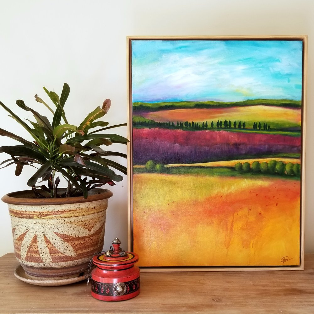 Kellee Wynne Conrad original acrylic painting modern landscape We Will Return set.jpg