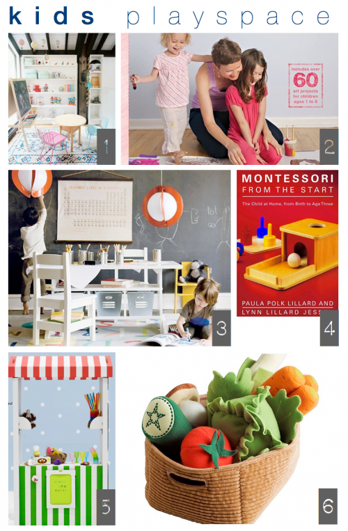 kids playspace inspiration board