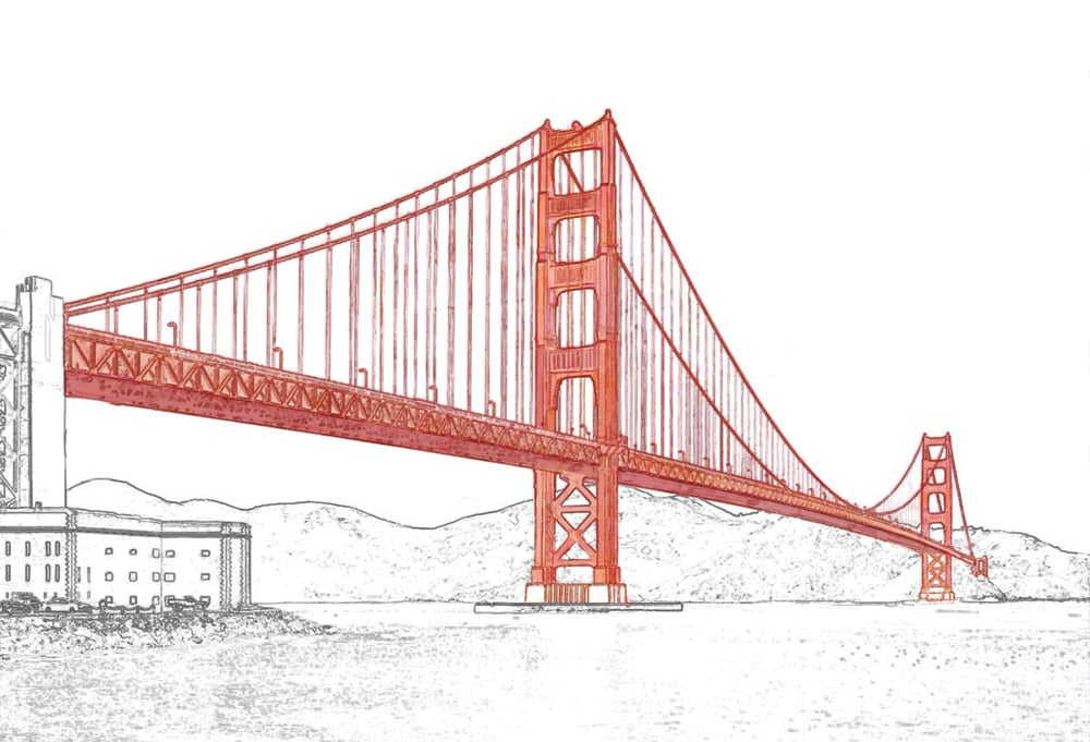 Golden Gate Bridge Lines