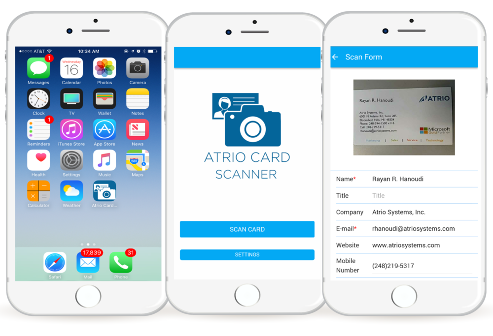 Atrio Card Scanner — Digital Transformation Experts – Microsoft ...