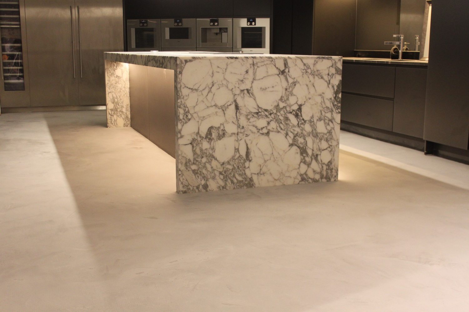Artstone concrete residential kitchen floor dailygadgetfo Image collections