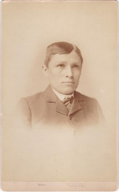 Hastiin To'Haali three years after his arrival to the Carlisle Indian Boarding School.  Courtesy of  Dickinson University