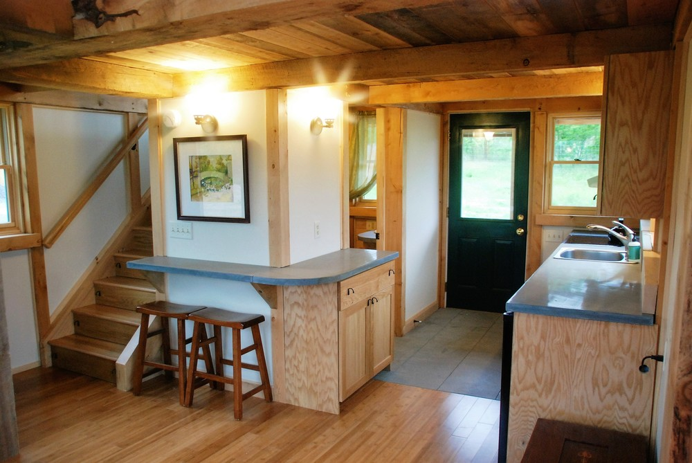 Tiny Timber house dining space