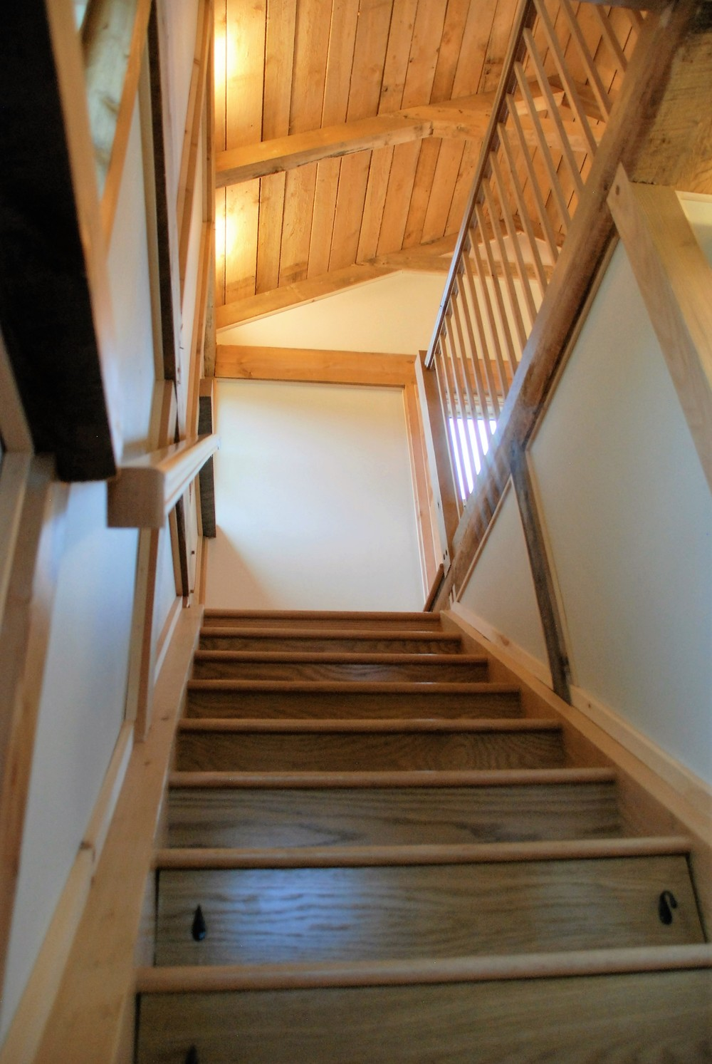 Tiny Timber house stairs