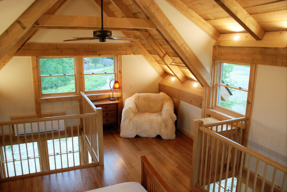 Tiny Timber house upstairs nook