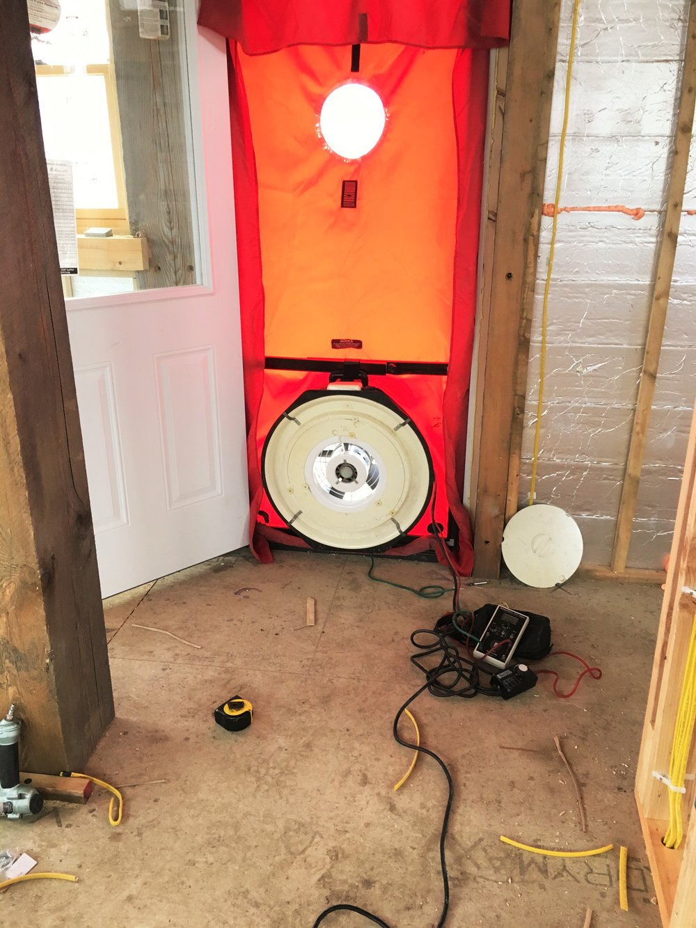 Energy Star blower door test