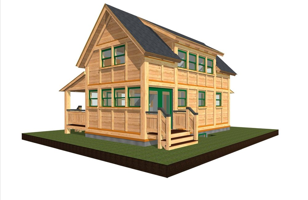Tiny Timber Three two story 2 bedroom (or 1 bedroom and loft) one bathroom