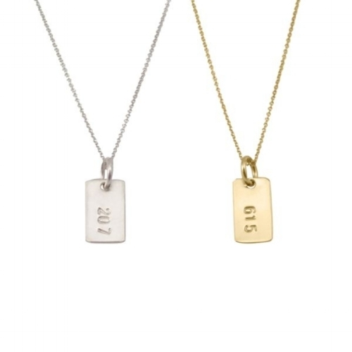 Heritage Area Code Necklace [$52-65] by way of Becoming Jewelry