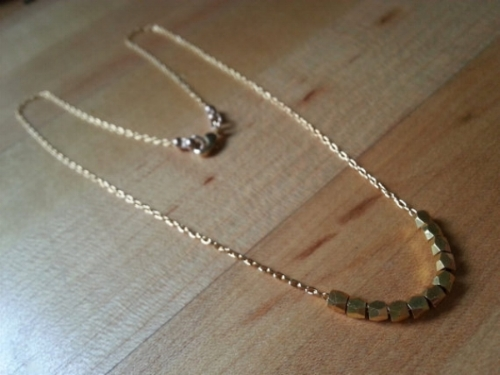 Gold Beaded Necklace [$40] by way of Stellar Creature