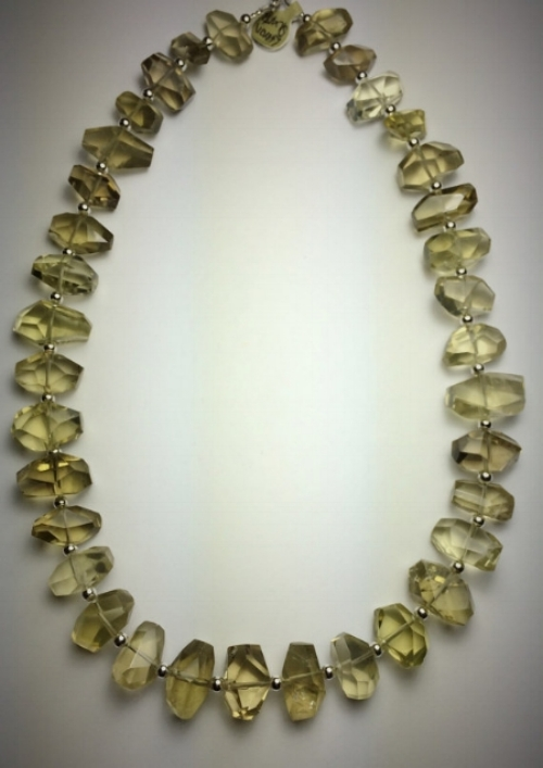 Sterling Silver + Lemon Quartz Necklace [$95] by way of Morgan McGeehan Designs