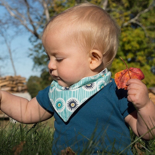 Organic Baby Bandana Bib [$10] by way of Anne Riggs Designs